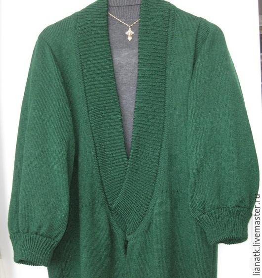 """Пиджаки, жакеты ручной работы. Ярмарка Мастеров - ручная работа. Купить Кардиган """"Татьяна"""". Handmade. Зеленый, кардиган вязаный, шерсть"""