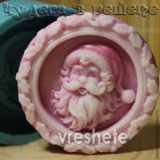 Материалы для косметики ручной работы. Ярмарка Мастеров - ручная работа. Купить Санта Клаус, объемная силиконовая форма. Handmade. Голубой