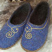 """Обувь ручной работы. Ярмарка Мастеров - ручная работа Тапочки женские """"Завитушки"""". Handmade."""