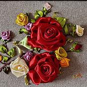 Картины и панно ручной работы. Ярмарка Мастеров - ручная работа Веточка роз.. Handmade.