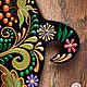 `В цветочек` Свинка символ 2019 года. Ключница, вешалка, панно с крючками. Ручная роспись, авторский эскиз. Подарок женщине, девушке, коллеге.