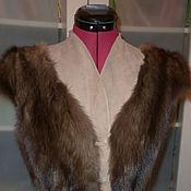 Одежда ручной работы. Ярмарка Мастеров - ручная работа жилет из соболя комбинированный с кожей. Handmade.