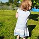 Одежда для девочек, ручной работы. вязаное  летнее платье в полоску. Марина. Ярмарка Мастеров. Одежда для девочек, хлопок