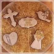 handmade. Livemaster - original item Christening cakes on the cake. Handmade.
