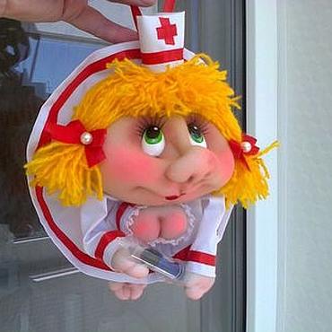 Куклы и игрушки ручной работы. Ярмарка Мастеров - ручная работа Кукла попик Медичка. Handmade.