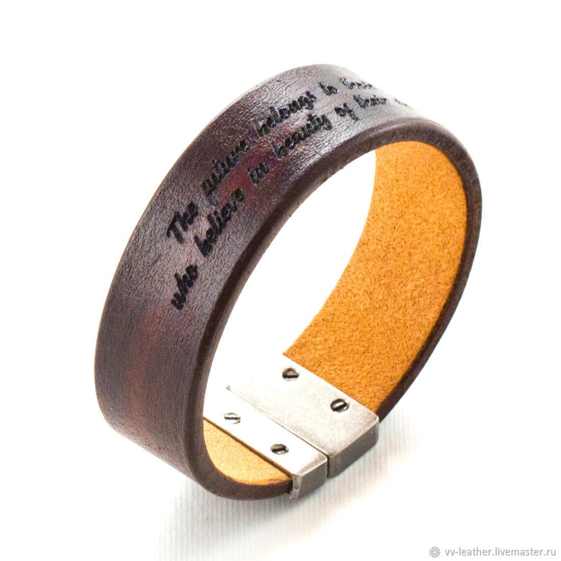 A leather bracelet