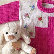 Работы для детей, ручной работы. Ярмарка Мастеров - ручная работа Джемпер ручной вязки для девочки. Handmade.