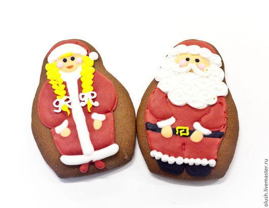 Кулинарные сувениры ручной работы. Ярмарка Мастеров - ручная работа. Купить Дед мороз или снегурочка. Handmade. Коричневый, пряник