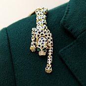 """Броши винтажные ручной работы. Ярмарка Мастеров - ручная работа Винтажная наплечная брошь """"Леопард"""".. Handmade."""