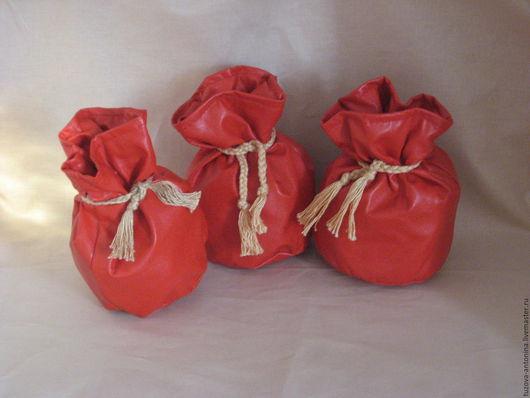Копилки ручной работы. Ярмарка Мастеров - ручная работа. Купить Мешочки для денег. Handmade. Ярко-красный, сувениры и подарки, мешочек