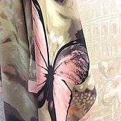 Платки ручной работы. Ярмарка Мастеров - ручная работа Натуральный шелковый платок из ткани Roberto Cavalli.Полет бабочки. 1. Handmade.