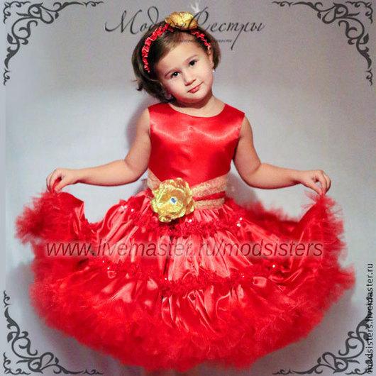 """Одежда для девочек, ручной работы. Ярмарка Мастеров - ручная работа. Купить Платье """"Американка"""" красное Арт.164. Handmade. юбка"""