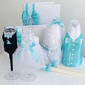 Свадебный салон ручной работы. Ярмарка Мастеров - ручная работа Свадебные аксессуары в бирюзовом цвете с кружевом. Handmade.