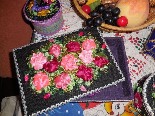 Натюрморт ручной работы. Ярмарка Мастеров - ручная работа. Купить шкатулка. Handmade. Разноцветный, розы, вышивка, канва, кружево винтажное