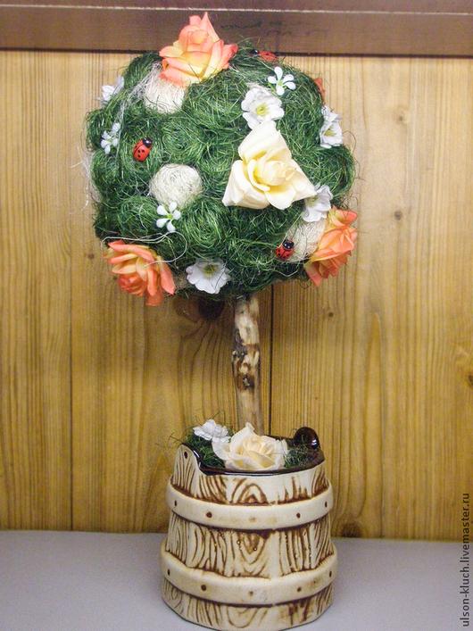 Топиарии ручной работы. Ярмарка Мастеров - ручная работа. Купить Дерево. Handmade. Болотный, топиарий, подарок на любой случай, керамика