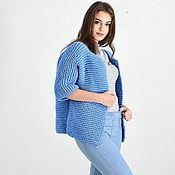 Одежда handmade. Livemaster - original item Women`s knitted jacket blue. Handmade.