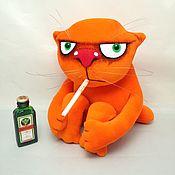 Куклы и игрушки handmade. Livemaster - original item People have a holiday today... Soft toy red cat Vasya Lozhkina. Handmade.