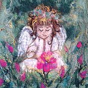 """Одежда ручной работы. Ярмарка Мастеров - ручная работа Жилет валяный """"Зачарованный ангел"""". Handmade."""