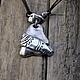 Кулоны, подвески ручной работы. Ярмарка Мастеров - ручная работа. Купить Артефакт. Подвес из серебра на кожаном шнуре. Handmade. Серебро