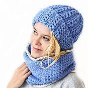 Аксессуары handmade. Livemaster - original item Knitted set: cap and Snood