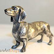 Для дома и интерьера ручной работы. Ярмарка Мастеров - ручная работа ТАКСА - статуэтка (оловянная миниатюрная фигурка собаки). Handmade.