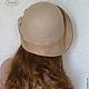 """Шляпы ручной работы. Шляпка """"Виктория"""" валяная кожаная бежевая.. Ирина (iresh). Ярмарка Мастеров. Валяная шляпа, валяные шапки"""