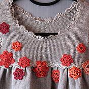Одежда ручной работы. Ярмарка Мастеров - ручная работа Hатуральный серый лен детское платье, Детская одежда 6 месяцев - 6 лет. Handmade.