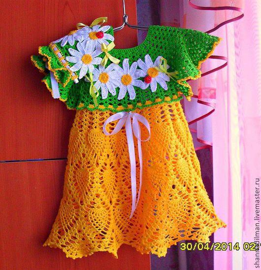 Одежда для девочек, ручной работы. Ярмарка Мастеров - ручная работа. Купить платье для девочки крючком. Handmade. Платье летнее