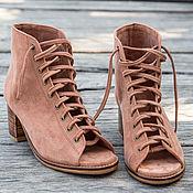 Boots handmade. Livemaster - original item Suede shoes Lima. Shoes made of suede for spring, autumn. Handmade.