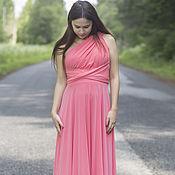 Одежда ручной работы. Ярмарка Мастеров - ручная работа Коралловые платья для подружек невесты, платья-трансформеры. Handmade.