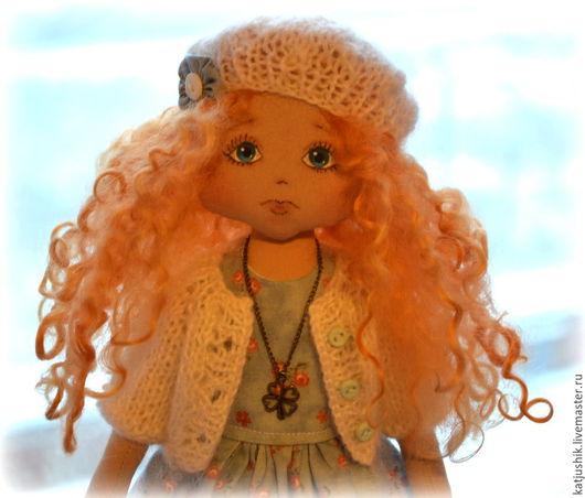 Коллекционные куклы ручной работы. Ярмарка Мастеров - ручная работа. Купить Интерьерная кукла Кудряшка. Handmade. Белый, подарок женщине