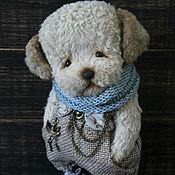 Куклы и игрушки ручной работы. Ярмарка Мастеров - ручная работа Серо-голубой щенок...Тэд.... Handmade.