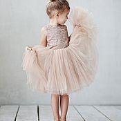 Платья ручной работы. Ярмарка Мастеров - ручная работа Воздушное платье из кружева и фатина. Handmade.