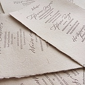 Дизайн и реклама handmade. Livemaster - original item Paper for letterpress hand casting. Handmade.
