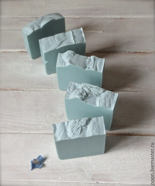 """Мыло ручной работы. Ярмарка Мастеров - ручная работа. Купить Мыло с нуля """"Гортензия голубая"""". Handmade. Мятный, ароматный подарок"""