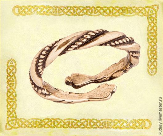 Кольца ручной работы. Ярмарка Мастеров - ручная работа. Купить Кольцо литое - Витое Скань. Handmade. Золотой, кольцо