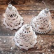 Сувениры и подарки handmade. Livemaster - original item Set of Christmas bells knitted. Handmade.