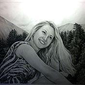 Картины и панно ручной работы. Ярмарка Мастеров - ручная работа Портрет по фото (формат А2). Handmade.