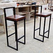Стулья ручной работы. Ярмарка Мастеров - ручная работа Барный стул в стиле лофт. Handmade.