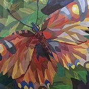 """Картины и панно ручной работы. Ярмарка Мастеров - ручная работа Картина """"Бабочка"""" гуашь, 85х60. Handmade."""