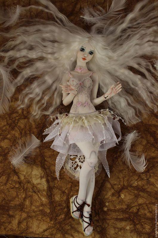 Коллекционные куклы ручной работы. Ярмарка Мастеров - ручная работа. Купить Белая Птица (фарфоровая шарнирная кукла).. Handmade. Белый
