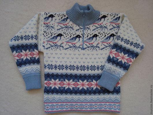 """Одежда унисекс ручной работы. Ярмарка Мастеров - ручная работа. Купить Детский свитер """"Зимний узор"""". Handmade. Белый"""