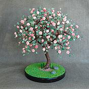 handmade. Livemaster - original item Tree of pink coral and jade