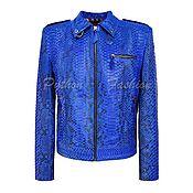handmade. Livemaster - original item Diana Python leather jacket. Handmade.