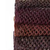 Аксессуары ручной работы. Ярмарка Мастеров - ручная работа Шарф ажурный шерстяной (бордово-бурый). Handmade.