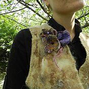 Одежда ручной работы. Ярмарка Мастеров - ручная работа Жилет из альпаки Войлок. Handmade.