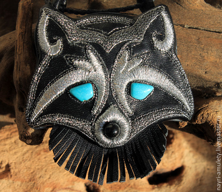 'Blue-eyed little Coon', Pendants, Moscow,  Фото №1