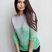 Одежда ручной работы. Ярмарка Мастеров - ручная работа Зеленый свитер. Handmade.