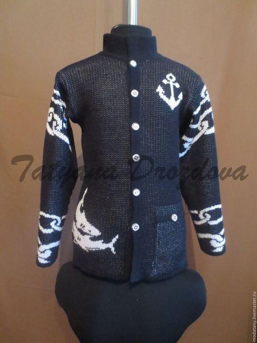 Одежда для мальчиков, ручной работы. Ярмарка Мастеров - ручная работа. Купить Камзол пирата. Handmade. Чёрно-белый, череп, хлопок