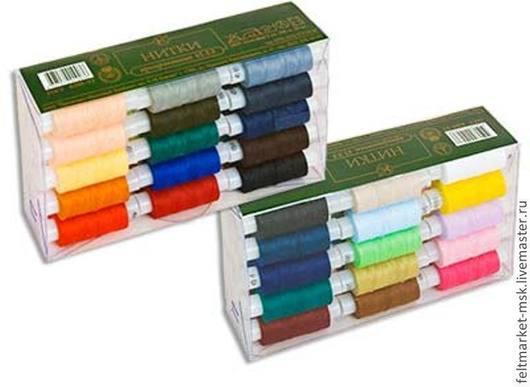Набор ниток армированные 45 лл (30 цветов) Намотка: 200 м, 2 сл.  Размер упаковки: 18,5х11х4,5 см Стоимость: 450 руб/набор